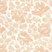 Moda Whitewashed Cottage by 3 Sisters - 3735 - Peach Large Floral - 44062 11 - Cotton Fabric